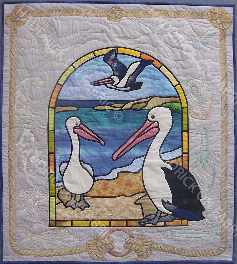 FEATHER & BIRDS STAINED GLASS