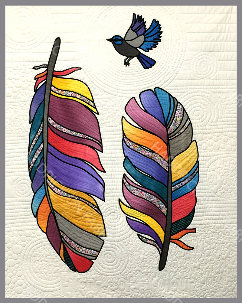 'MODERN FEATHER STAINED GLASS'